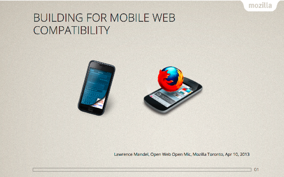 Building for Mobile Web Compatibility title slide